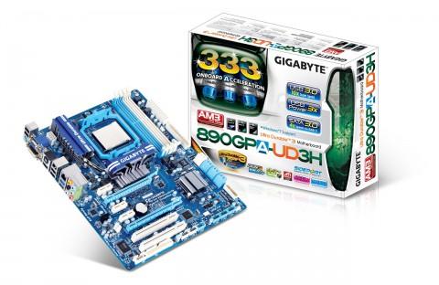 Gigabytes GA-890GPA-UD3H  mit 890GX-Chipsatz