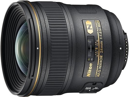 Nikon: 24-mm-Festbrennweite und VR-Weitwinkelzoom - Nikon AF-S Nikkor 24mm 1:1,4G ED