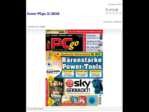 Das Cover der PCgo 3/2010