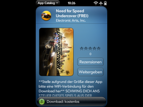 Need for Speed Underground gratis im deutschen App Catalog