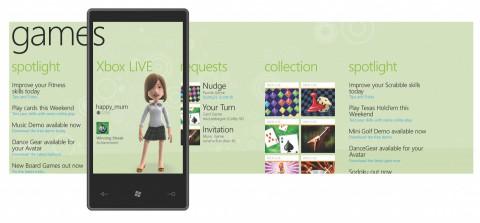 Gamescreen von Windows Phone alias Windows Mobile 7