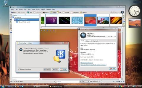 Die digitale Bildverarbeitung Digikam 1.1.0 läuft auch unter Windows.