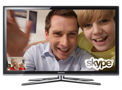 Samsung-Fernseher werden mit Skype-Client versehen