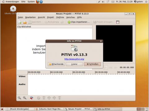 Statt der Bildbearbeitung Gimp haben Ubuntu-Entwickler den Videoeditor Pitivi beigelegt.