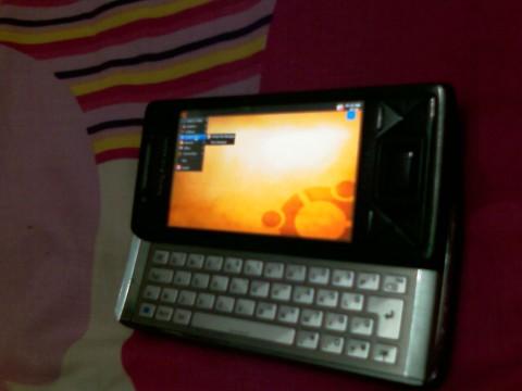 Ubuntus Gnome-Desktop auf dem Xperia X1