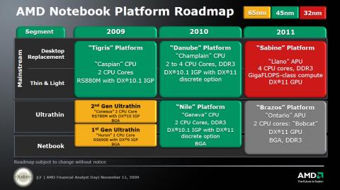 AMDs Roadmap: 2011 mit Ontario auch Netbooks