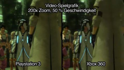 Vergleich Videosequenz: PS3-Version fast ohne Artefakte