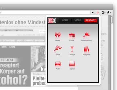 Erweiterungen für Chrome sorgen für Icon-Flut - Google-Chrome-Erweiterung Bild.de