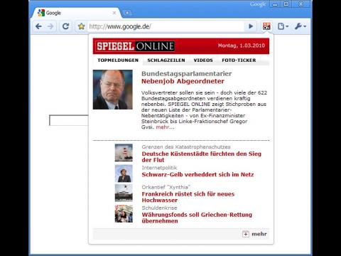 Google-Chrome-Erweiterung Spiegel Online