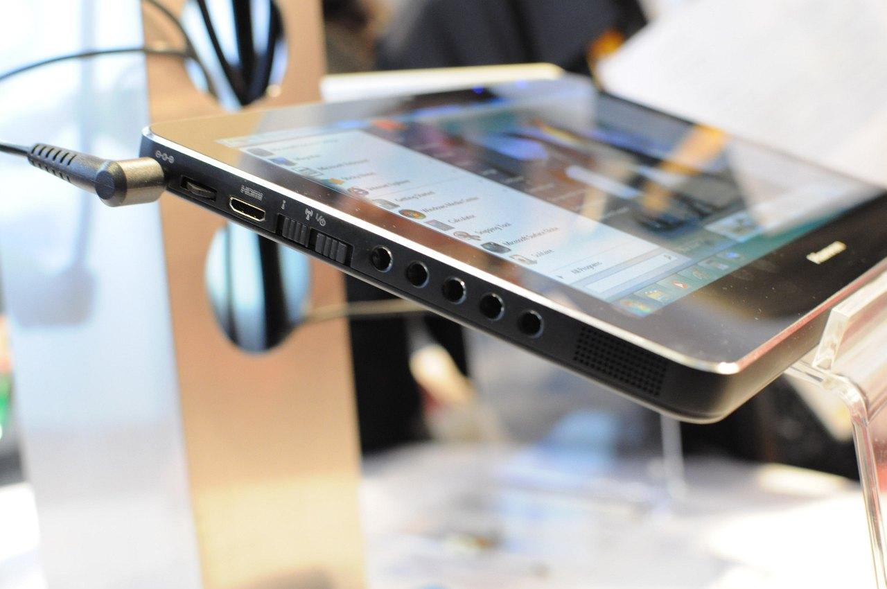 Hanvon zeigt iPad-Konkurrent mit Windows 7 - ... erkennt maximal zwei Finger und bietet einstellbare Tasten an der Seite.