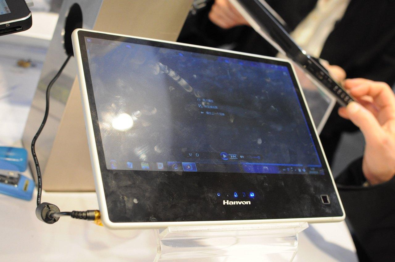 Hanvon zeigt iPad-Konkurrent mit Windows 7 - Die Pen-Digitizer-Version des Tablets. Hier kommt nur ein Atom Z530 zum Einsatz.