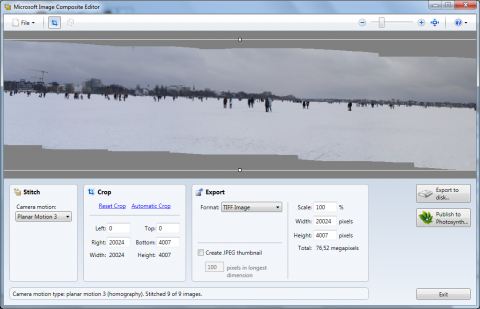 Microsoft Research Image Composite Editor (ICE)