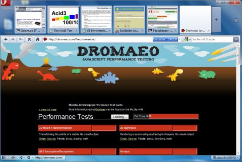 Opera 10.50 - Tabvorschau innerhalb der Opera-Tabs