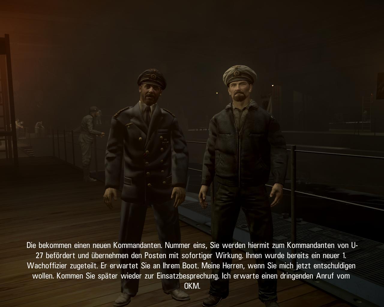 Spieletest: Silent Hunter 5 - spielerische Untiefen - Zwischensequenz im Hafen von Kiel