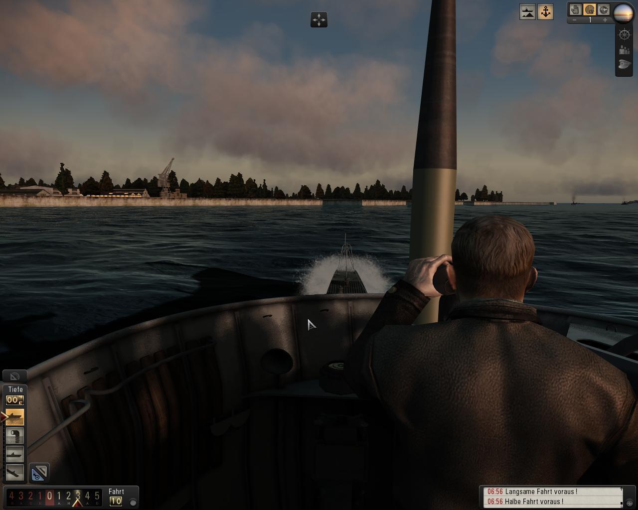 Spieletest: Silent Hunter 5 - spielerische Untiefen - Rundfahrt im Hafen von Kiel