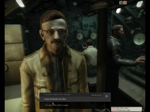 Dialog mit einem Kameraden im U-Boot