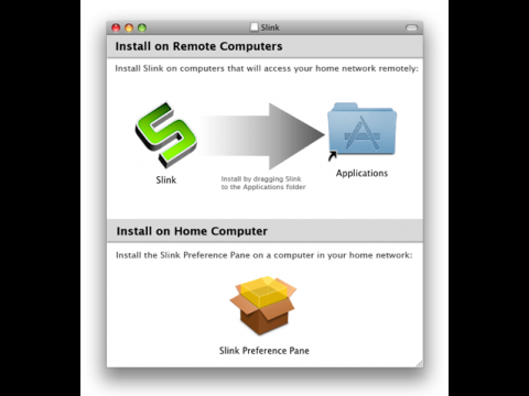 Slink - Installation auf dem Client- und dem Server-Mac