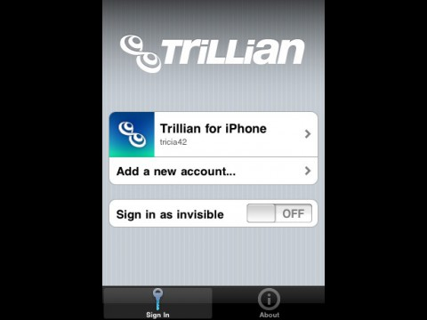 Trillian für iPhone - Login