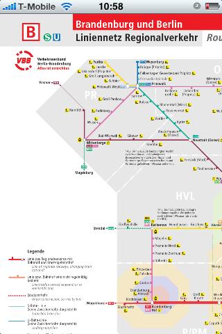 Fahrinfo: Bus- und Bahnfahrpläne auf dem iPhone - Netzspinnen, hier der Regionalverkehr in Berlin und Brandenburg, ...