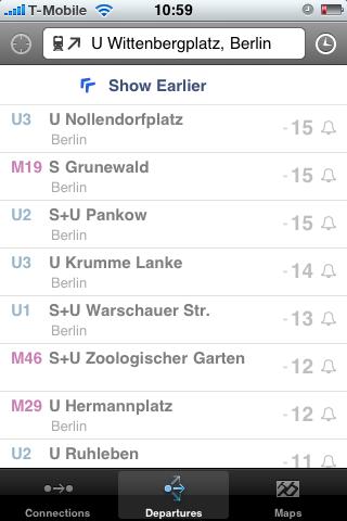 Fahrinfo: Bus- und Bahnfahrpläne auf dem iPhone -