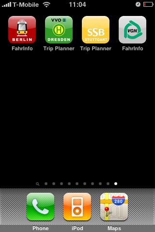 Fahrinfo: Bus- und Bahnfahrpläne auf dem iPhone - Alle vier Fahrinfo-Anwendungen auf dem iPhone