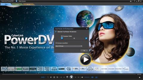 PowerDVD 10 - mit Truetheater 3D kann 2D zu 3D umgerechnet werden.