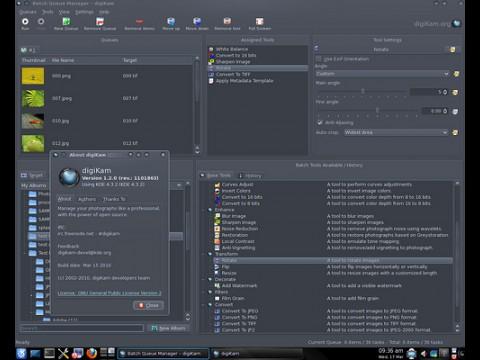 Das Hauptfenster von Digikam 1.2.0