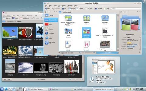 Der Plasma-Desktop der KDE-SC 4.4.2