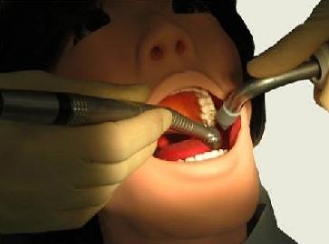 Frau Showa hat keine Angst vor dem Zahnarzt -