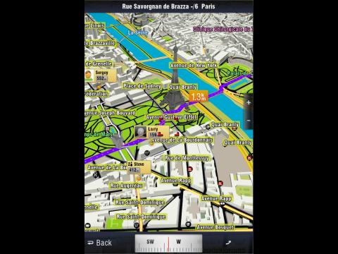 Sygic Aura: 3D-Ansichten von 400 Städten (Screenshot: Sygic)
