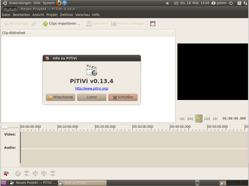 Ubuntu Lucid Lynx als Beta 2 veröffentlicht - Neu mit dabei ist der Videoeditor Pitivi.