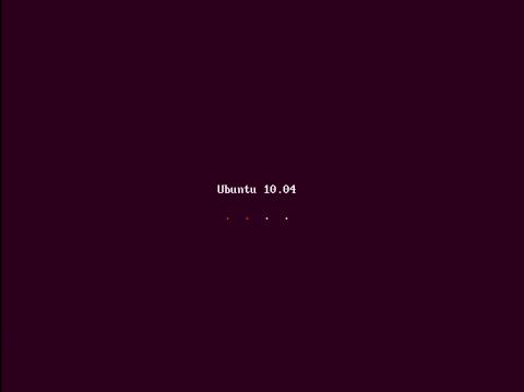 Der Splashscreen ist Teil des neuen Light-Themes von Ubuntu 10.04.