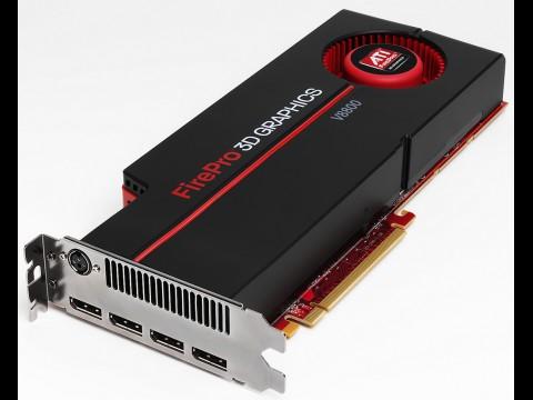 AMD FirePro V8800 mit vier Displayports