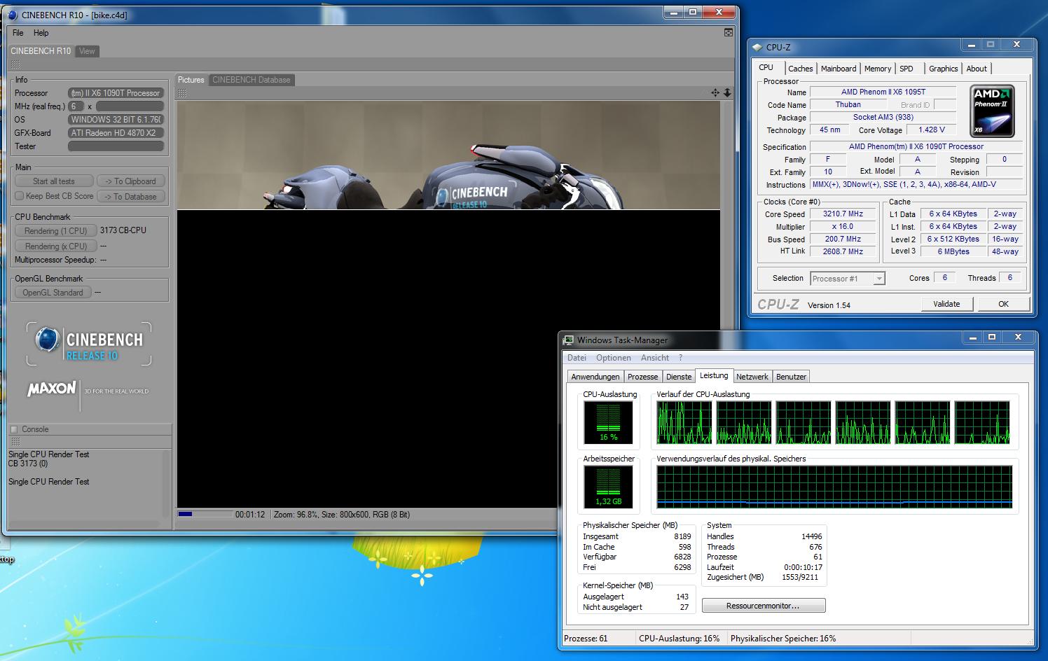 Test: Phenom II X6 1090T - AMD holt mit 6-Kerner auf - Schon mit Last auf nur einem Kern greift der Turbo nicht immer.