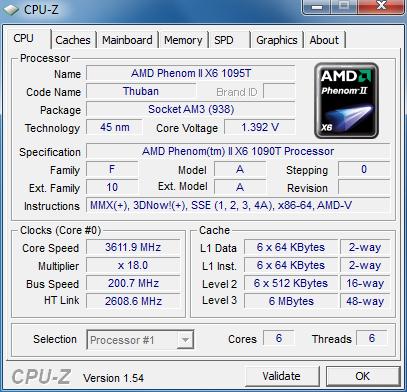 Test: Phenom II X6 1090T - AMD holt mit 6-Kerner auf - CPU-Z erkennt den Thuban