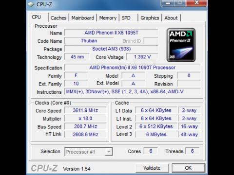 CPU-Z erkennt den Thuban
