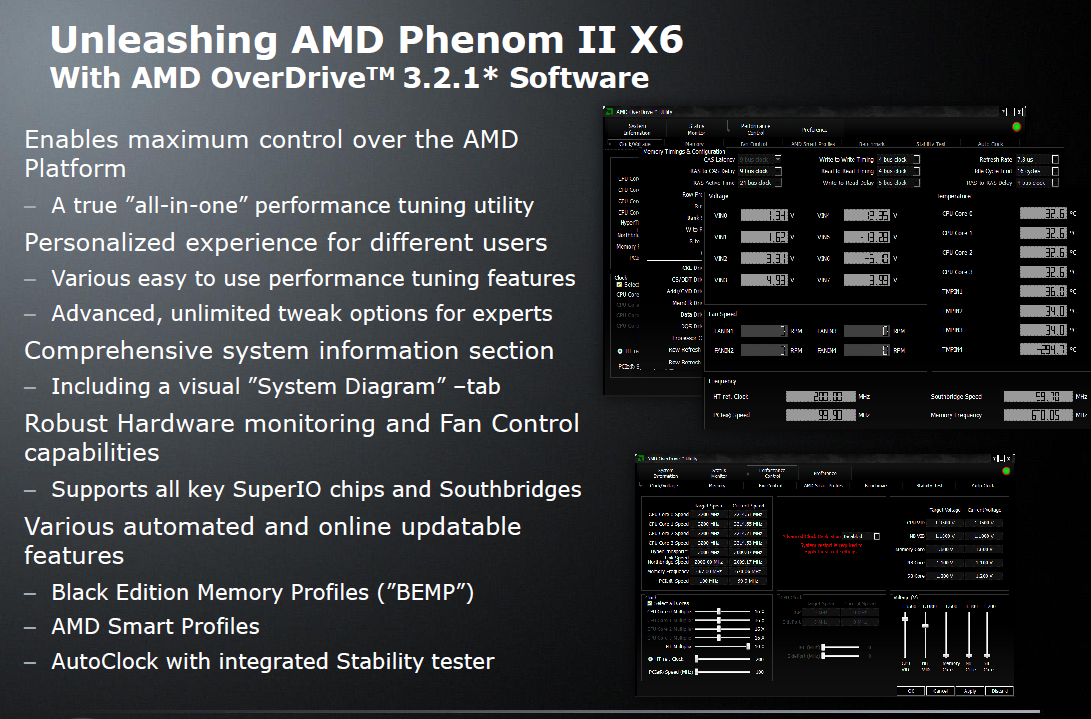 Test: Phenom II X6 1090T - AMD holt mit 6-Kerner auf - Neues Overdrive