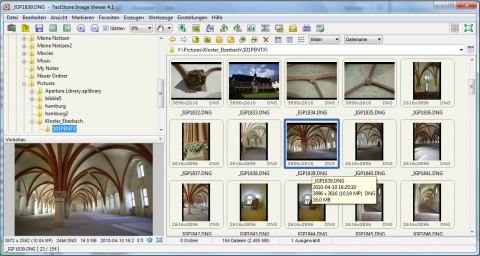 Faststone Image Viewer 4.1 - Vorschau von Rohdaten