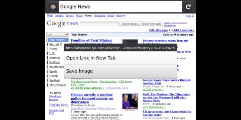 Kontextmenü für Firefox Mobile