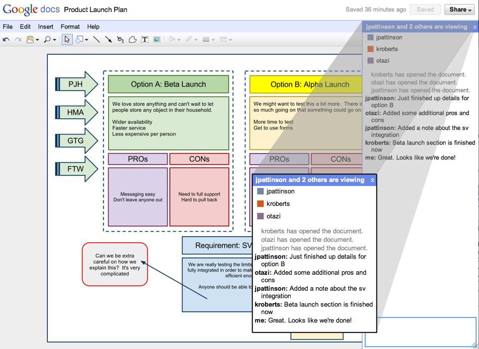 Die nächste Generation von Google Docs - Neue Zeichenapplikation in Google Docs