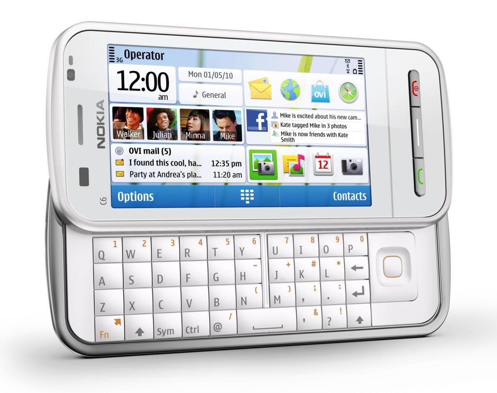 nokia c6 symbian smartphone mit touchscreen und tastatur. Black Bedroom Furniture Sets. Home Design Ideas