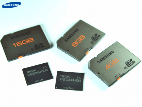 SD-Cards und Chips mit Samsungs 20-nm-Flash
