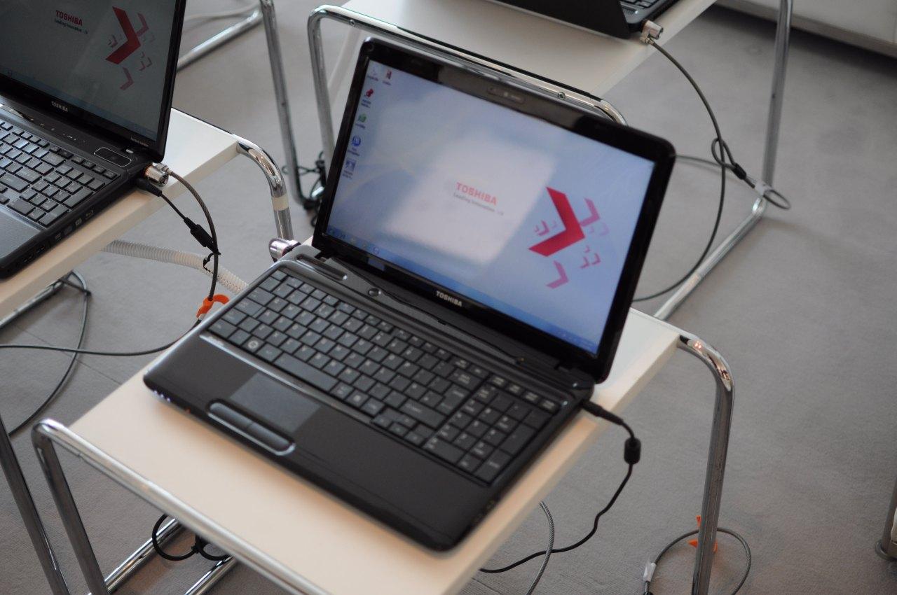 Toshiba: Fernseher mögen Windows 7 und Notebooks streamen - Einer der Prototypen der L-Serie