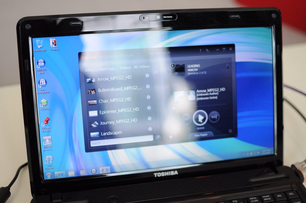 Toshiba: Fernseher mögen Windows 7 und Notebooks streamen - Toshiba Media Controller