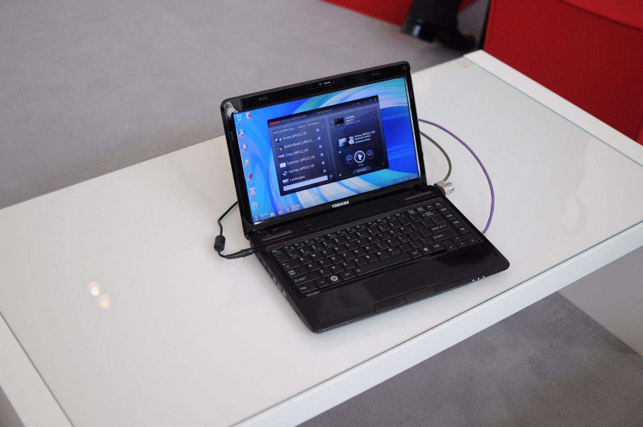 Toshiba: Fernseher mögen Windows 7 und Notebooks streamen - Toshiba Media Controller - hier sendet er eine Datei von einem Server zu einem Fernseher.