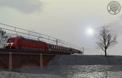 Train Simulator - Railworks 2010: hier die Baureihe 101 in aktueller Lackierung der Deutschen Bahn. Die Screenshots stammen von der englischen Version des Spiels.