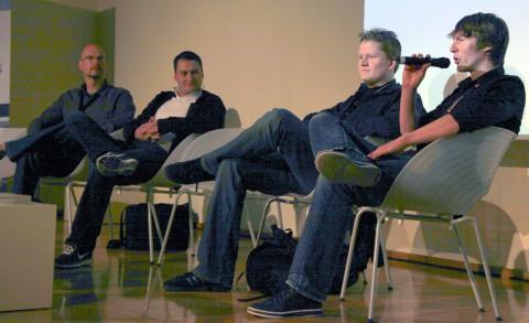 Eric Simon, Pete Walantin, Christopher Schmitz, Timo Ullmann (v.l.n.r.) auf der Quo Vadis 2010