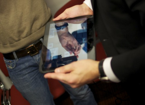 Das WePad spiegelt wie das iPad ...