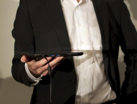 ... bietet aber dafür beispielsweise USB-Schnittstellen.