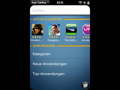 App Catalaog von WebOS 1.4.1